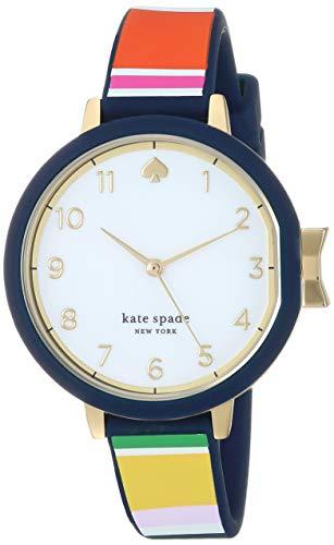 kate spade new york Women's Quartz Watch with Silicone Strap, Multi, 12 (Model: -