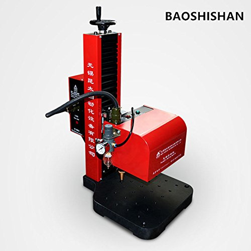 Pneumatic rotary dot peen marking machine for round surface marking 220V by BAOSHISHAN