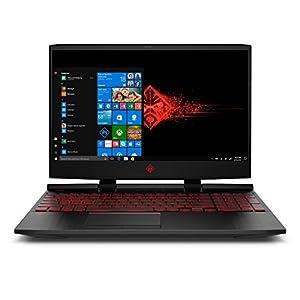 OMEN by HP 15.6-inch Gaming Laptop, i5-8300H Processor, GeForce GTX 1050Ti 4GB, FHD IPS Thin Display, 12GB 2666MHz RAM, 1TB HDD & 128GB PCIE SSD, Windows 10 (15-dc0010nr, Black), Metal 8