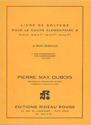 Livre De Solfege Cours Elementaire B Livre Sur La Musique