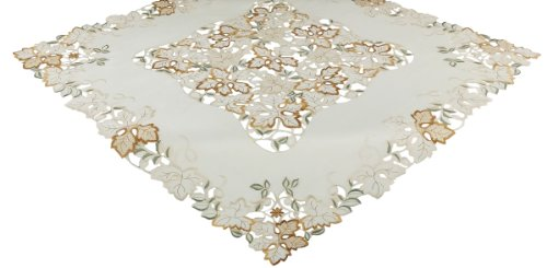 Xia Home Fashions 36 by 36-Inch Autumn Forest Cutwork Emb...