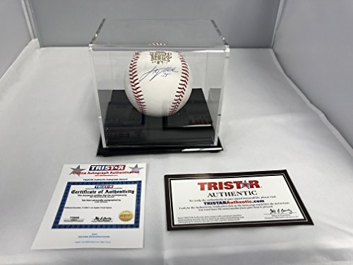 Justin Verlander Autographed Signed Houston Astros Official MLB Baseball WORLD SERIES 2017 BALL TriStar Authentic Hologram & COA Card With Display Case (Baseball Tristar)