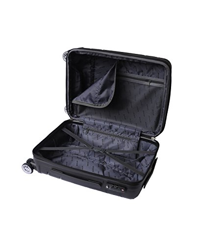 Bravo Infinity Hardside Spinner Luggage 22 Inch Black Carry On Expandable Luggage With TSA Lock by Xena (Image #1)