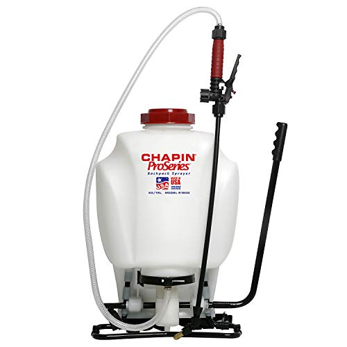 Diaphragm Sprayer - Chapin International 61800 Backpack Sprayer, 4-Gallon, Translucent White