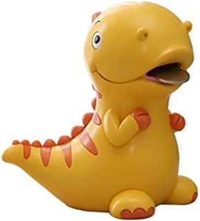 6 X 6 Inches Lovely Piggy Bank Green Dinosaur Shaped Large Size Resin Piggy Bank Coin Bank Money Bank Best Christmas Birthday Gifts for Kids Boys Girls Home Decoration