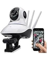 Camera De Segurança Ip Robo Wifi Babá 360 Graus HD Visão Noturna