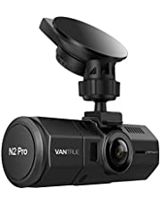 """Vantrue N2 Pro Dual Dash Cam Infrared Night Vision Dual 1080P Front and Rear Dashcam for Cars (2.5K 1440P Single Front) 1.5"""" 310° Car Camera w/Sony Sensor, Parking Mode, G-Sensor, Support 256GB Max"""