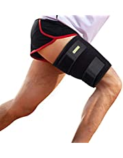 Adjustable Thigh Support Neoprene Thigh Brace with Non-Slip Strap, for Hip, Groin, Hamstring, Thigh, and Sciatic Nerve Pain Relief, Muscle Strain Prevention and Rehabilitation
