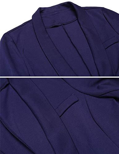 Monocromo Autunno Leisure Alta Giaccone Qualit marca Di Business Button Suit Donna Manica Camicia Lunga Mode Bavero Fit di Slim wXq5xqHtC