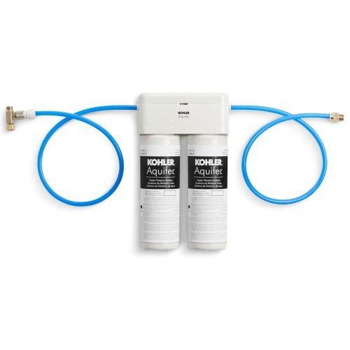 KOHLER 77686-NA Aquifer Double Cartridge Water Filtration System by Kohler