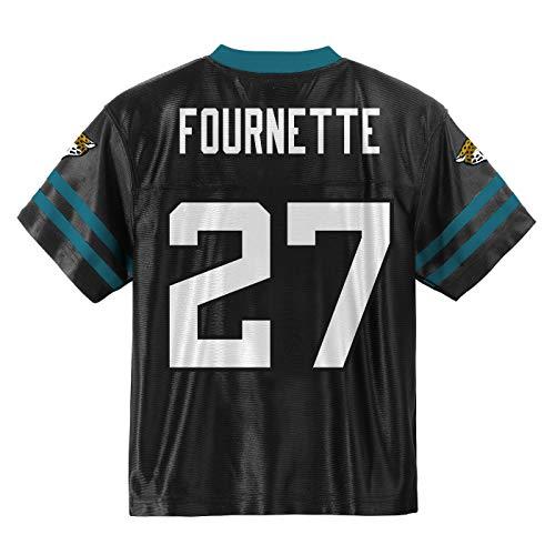 Outerstuff Leonard Fournette Jacksonville Jaguars #27 Black Youth Home Player Jersey (Medium 10/12)