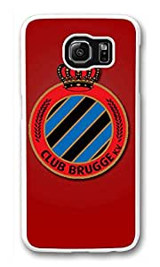 Galaxy S6 Case, S6 Cases, Custom Club Brugge Kv Galaxy S6 Bumper Case [Scratch Resistant] [Shock-Absorbing] Hard Plastic White Protective Cover Cases for New Samsung Galaxy S6