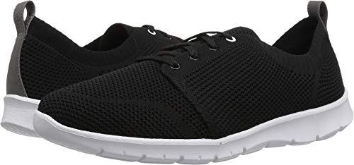 CLARKS Women's Step Allenasun Sneaker, Black Textile, 110 M (Clarks Walking Shoes)