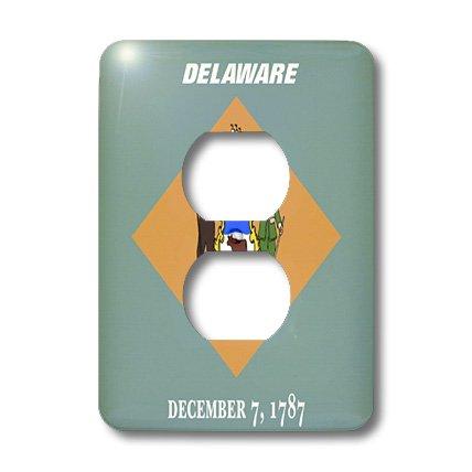 3dRose  lsp_45020_6 State Flag of Delaware 2 Plug Outlet Cover (Delaware Outlets)