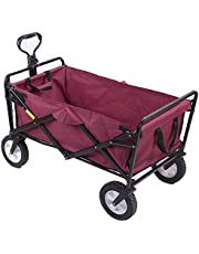 Collapsible Wagon,Beach Wagon 220lb Heavy Duty Folding Outdoor Utility Cart Beach Cart with Cup Holder for Beach Shopping Camping Garden 38In