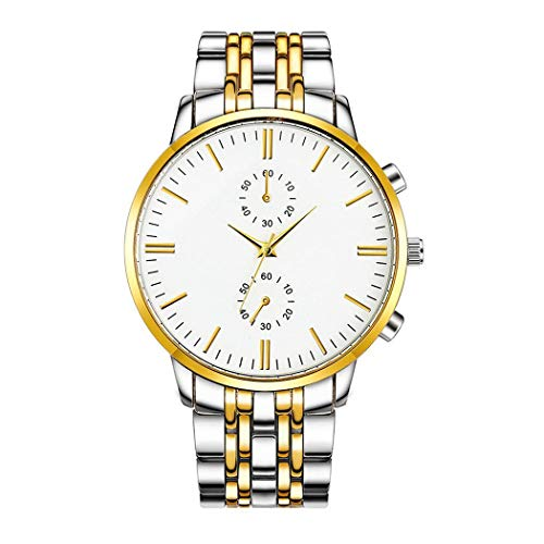 Legros New Men Fashion Alloy Steel Band Round Analog Quartz Wrist Watch Bracelet (Fashion Quartz Watch)