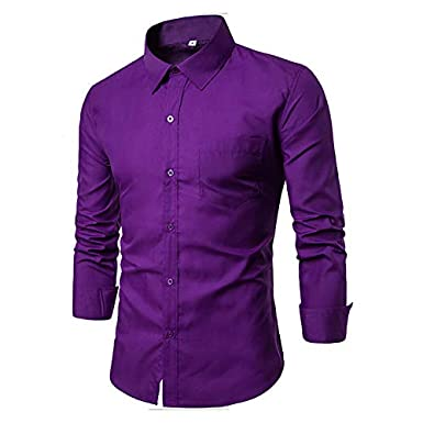 IYFBXl Mens Active//Basic Shirt Solid Colored//Striped