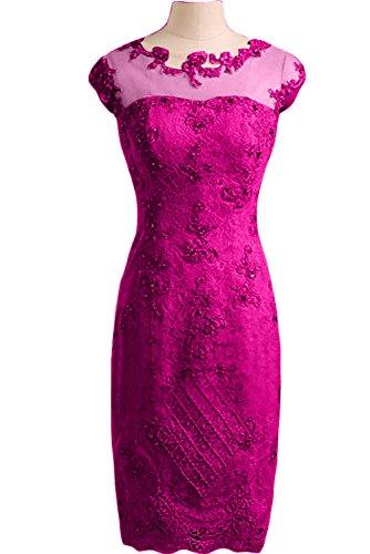 Ivydressing Damen Liebling Etui-Linie Spitze Applikation Tuell Partykleid Festkleid Abendkleid Fuchsie W1GYV