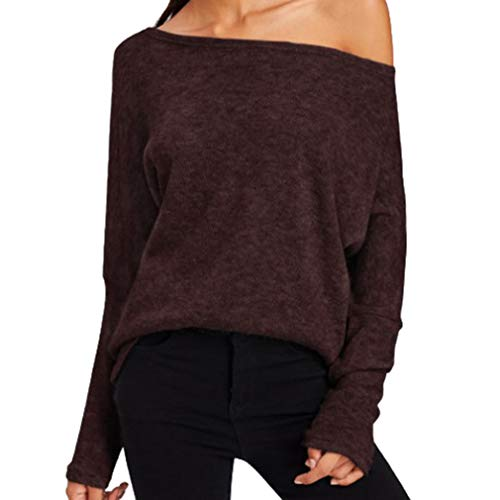 Printemps S Manches Mode Femme Automne 7 sans Baggy Bretelles Hibote Sweatshirt T Sweat Sport de Basique Hiver Hauts Longues Shirt XL Shirts Tunique vFTwRSx