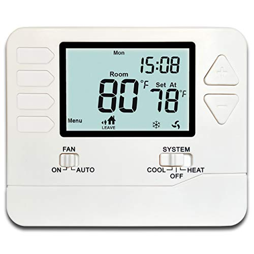 Heagstat H715 5-1-1-Day Multi Stage Programmable Thermostat, 2 Heat/2 Cool, with 4.5 sq. Inch ()