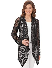 Women's Floral Lace Cascade Cardigan Jacket