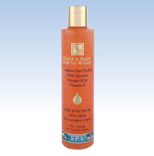 Visage sans savon peeling avec de la glycérine huile d'orange et vitamine E