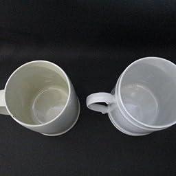 Amazon Co Jp 500ml入っちゃうビアーマグカップ 大きいマグ 大容量 大きなマグ 大きい ビッグサイズ 使いやすい バターコーヒー ビアマグ 洋食器 国産 美濃焼 ホーム キッチン
