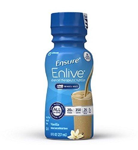 Ensure Enlive Nutritional Shake, Vanilla, 8 Ounce Bottle, Abbott 64286 - Case of 24