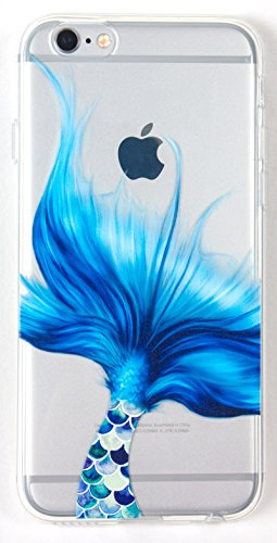 IPhone 6 Plus /6s Plus Case, YogaCase InTrends Silicone Back Protective Cover (Mermaid Tale) (Iphone 6 Cases Koi Fish)