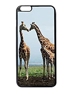 iPhone 6 Plus Case - Giraffe Family Patterned Protective Skin Hard Case Cover for Apple iPhone 6 Plus 5.5