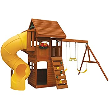 Amazoncom Preston Swing Play Set Cedar Summit Toys Games