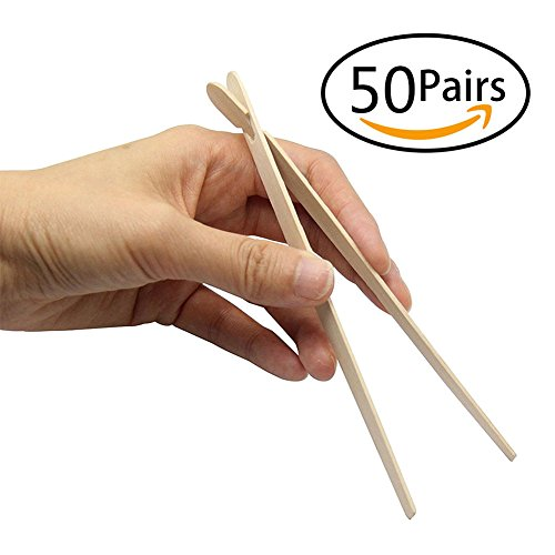 ALIOO Disposable Chinese Wooden Chopsticks China Style Dinnerware Finger Food Tong by ALIOO