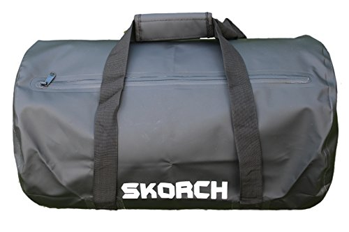 Black Water Resistant Duffel Bag 12x20 inch. Waterproof Material with Water Resistant Zip. Comfortable Carry Handles and Removable Shoulder Strap. Ideal for Boat trips, Beach, Watersports or Rain