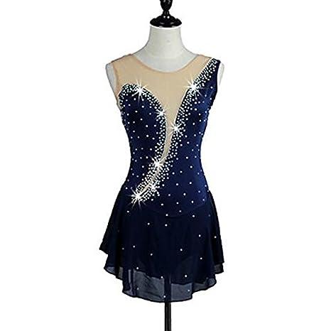 big sale c6d3c 34079 W&G(New Vestito da Pattinaggio Artistico per Donna Ragazze ...