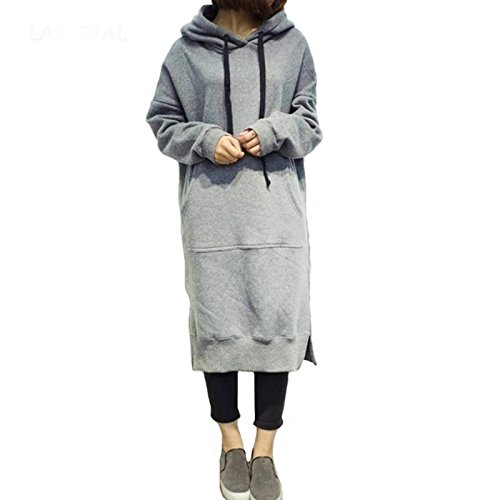 Dearilin Nice Plus Size 5XL Women Autumn Winter Long Sleeve Long Hooded Hoodies New Casual Long Sleeve Fashion Sweatshirt Pullovers at Amazon Womens ...