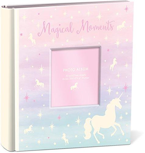 First Photo Birthday Album - Punch Studio Magical Moments Unicorn Photo Album