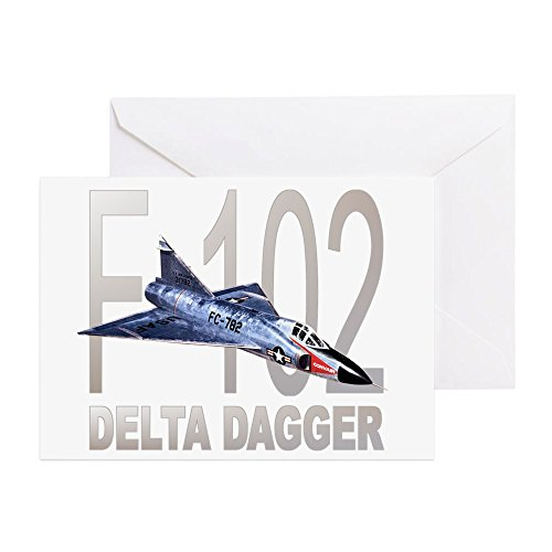 CafePress - F-102 Delta Dagger - Greeting Card, Note Card, Birthday Card, Blank Inside Matte Dart Paper Airplane