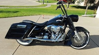21 x3.5'' Black Mammoth 48 Fat Spokes Front Wheel With Whitewall ShinkoTire And Rotor Package for Harley-Davidson Dual Disc