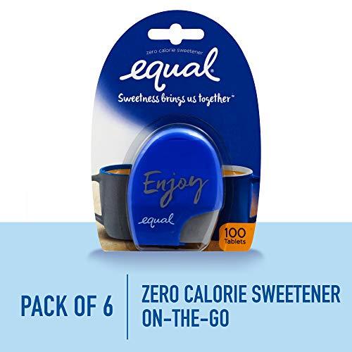 - EQUAL 0 Calorie Sweetener Tablets, Sugar Substitute, Zero Calorie Sugar Free Sweetener Tablets, 100-Count (Pack of 6)