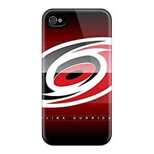 Excellent Cell-phone Hard Covers For Iphone 4/4s (hTQ12252JNZI) Provide Private Custom HD Carolina Hurricanes Series