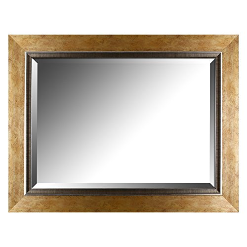 Mirrorize.ca Beveled Hanging Wall Decorative Mirror with Gradient Copper Frame and Liner, 27.25-Inch by - Frames Copper Mirror