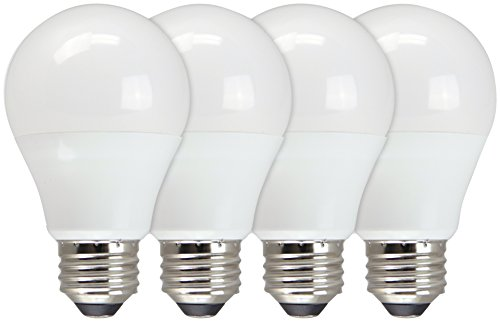 TCP 60W Equivalent, Value LED A19 Light Bulbs, Daylight, Non-Dimmable (4 Pack)
