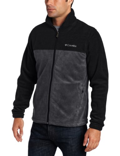Columbia Men's Steens Mountain Full Zip 2.0 Soft Fleece Jacket, New Black/Grill, 4X