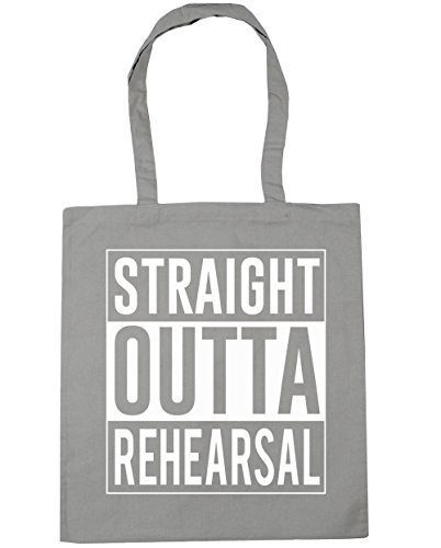 x38cm 10 Shopping Straight HippoWarehouse Tote Gym Light Rehearsal Bag litres Grey Beach Outta 42cm wRaqSFaxz