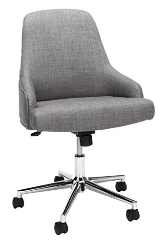 Essentials Upholstered Home Desk Chair – Ergonomic Office Chair for Conference Room Or Office, Gray (ESS-2086-GRY)