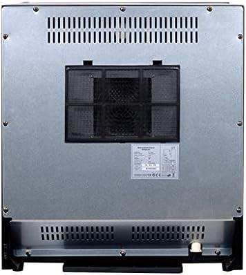 SHENXINCI Enfriador de Vino Vinoteca, Temperaturas Ajustables de 5 A 8 °C, Panel de Control Táctil, Estantes Metálicos Extraíbles, Volumen de 30 L, hasta 12 Botellas, Negro
