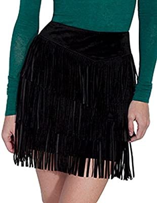 Scully Women's Suede Fringe Skirt