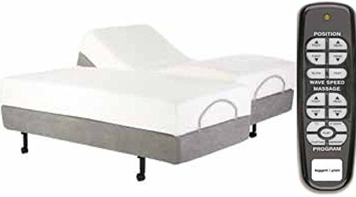 Adjustables by Leggett & Platt Simplicity Adjustable Bed Base, Wireless, Massage, Split King