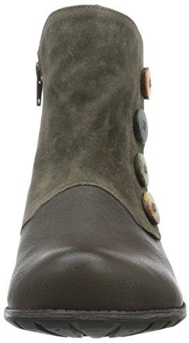 Think Denk, Zapatillas de Estar por Casa para Mujer Gris - Grau (vulcano/KOMBI 21)