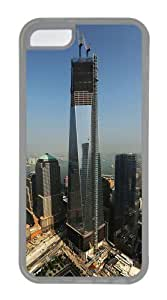 Customized Case Landscapes WTC TPU Transparent for Apple iPhone 5C